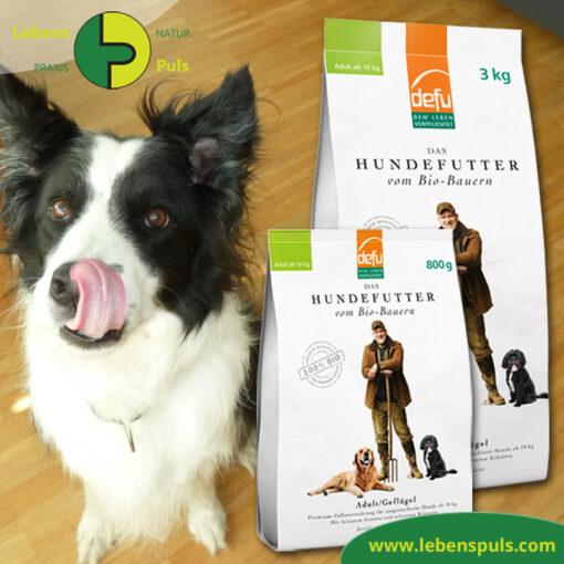 Defu Felderzeugnisse Bio Hundefutter Trockenfutter Adult Gefluegel