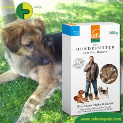 Defu Felderzeugnisse Bio Hundefutter Snack Huhn und Carob