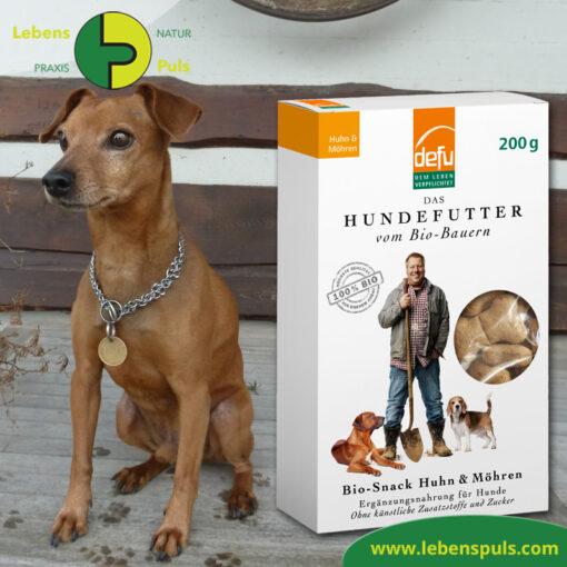 Defu Felderzeugnisse Bio Hundefutter Snack Huhn und Moehre