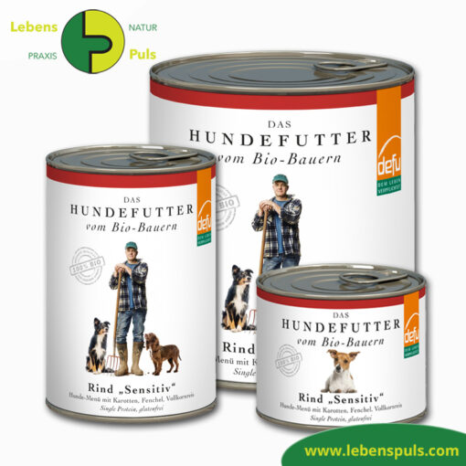 Defu Felderzeugnisse Bio Hundefutter Nassfutter Rind Sensitiv 1