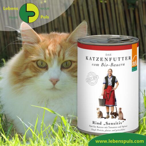 Defu Felderzeugnisse Bio Katzenfutter Nassfutter Rind Sensitiv