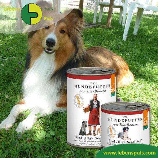 Defu Felderzeugnisse Bio Hundefutter Nassfutter Rind High Sensitiv Getreidefrei