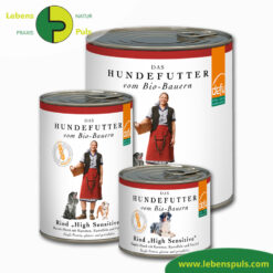 Defu Felderzeugnisse Bio Hundefutter Nassfutter Rind High Sensitiv Getreidefrei 1