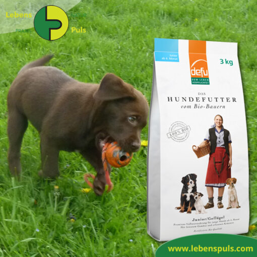 Defu Felderzeugnisse Bio Hundefutter Trockenfutter Junior Gefluegel