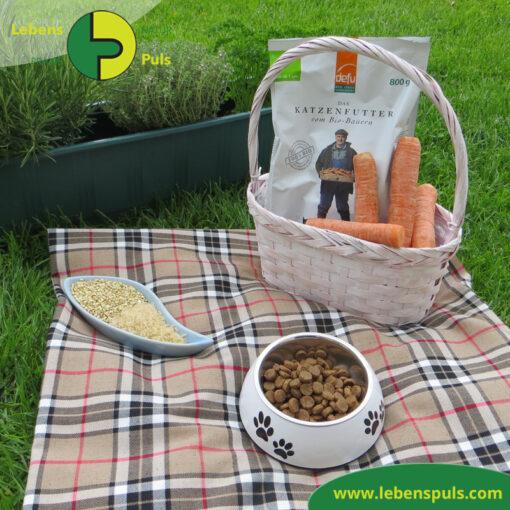 Defu Felderzeugnisse Bio Katzenfutter Trockenfutter Gefluegel Picknick