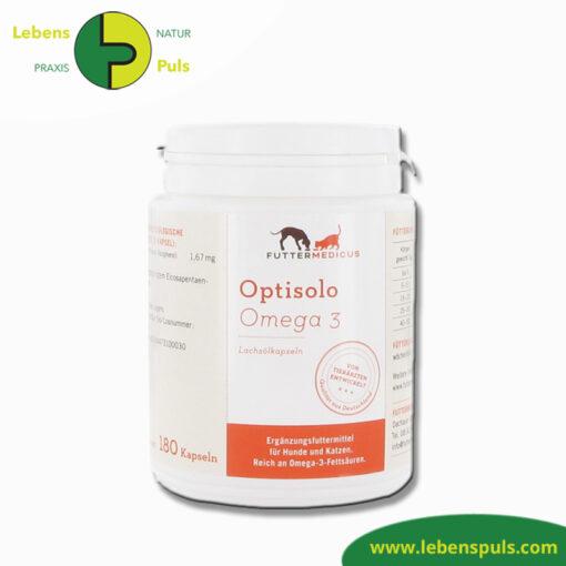 Futtermittelergaenzung Futtermedicus Optisolo Omega 3 Lachsöl Kapseln