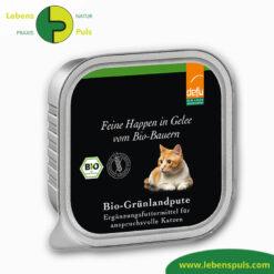 Defu Felderzeugnisse Bio Katzen Nassfutter Feine Happen in Gelee Gruenland Pute Produkt