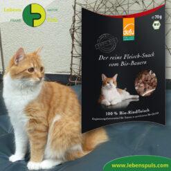 Defu Felderzeugnisse Bio Katzenfutter Fleisch Snack Rind