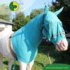 VetMedCare Tierbedarf Pferde Haube mit Stirnfransen, Insektenschutz und Wundschutz für Pferde