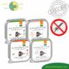 AKTION 3 + 1 Premium Katzenfutter Nassfutter getreidefrei BIO von Defu Huhn, Truthahn, Lachs, Lamm 4x100g