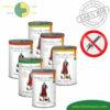 Premium Katzenfutter Nassfutter getreidefrei BIO von Defu Huhn, Truthahn, Gans, Rind, Lachs, Lamm 6x410g